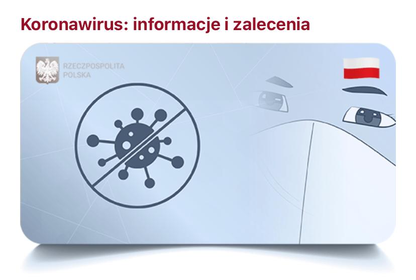 mObywatel – Koronawirus: informacje i zalecenia