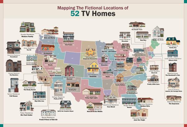 52 serialowe domy w USA, które istnieją naprawdę!?