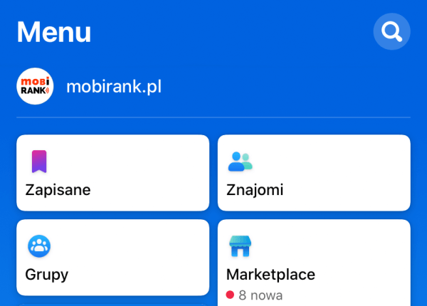 Aplikacja Facebook ma teraz nowe bardzo niebieskie menu