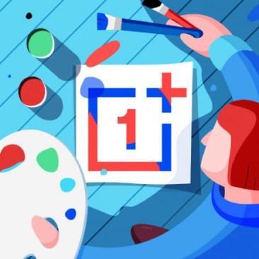 """Przykłady visuali z ikoną OnePlus (""""1"""")"""