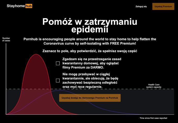 Pomóż w zatrzymaniu epidemii oglądając Pronhub Premium (promocja)