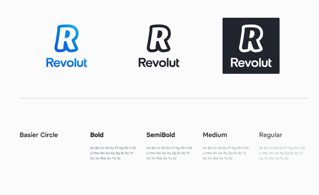 Revolut brand update (logo, czcionki) - marzec 2020 rok