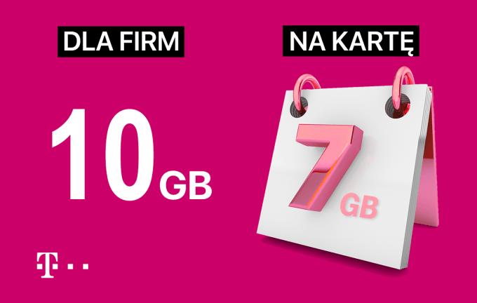 Internetuj mobilnie z T-Mobile (10 GB dla firm i 7 GB dla ofert na kartę)