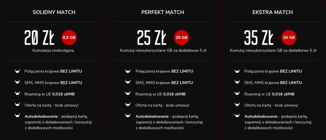 Nowe taryfy Match w ofercie Mobile Vikings - cennik