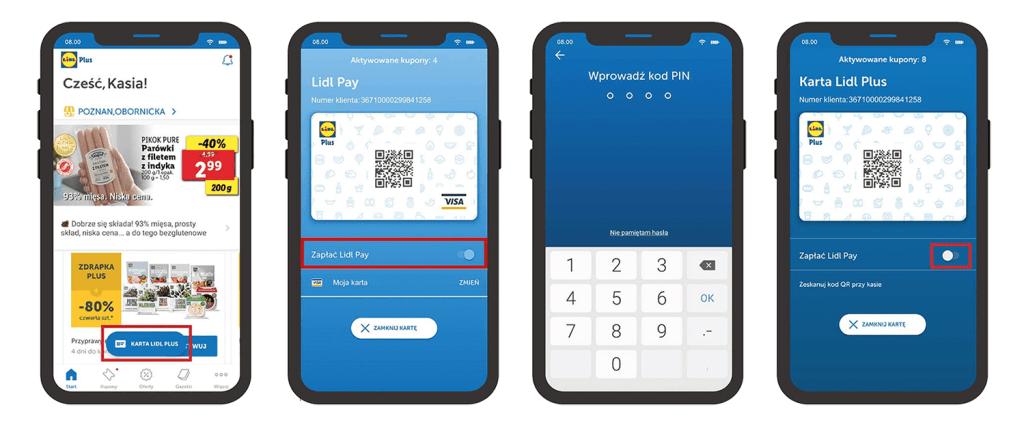 Jak aktywować Lidl pay w aplikacji Lidl Plus?