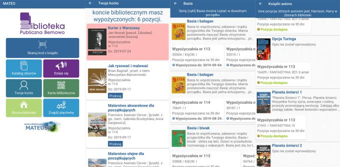 e-Biblioteka Bemowo - aplikacja na Androida (MATEO)