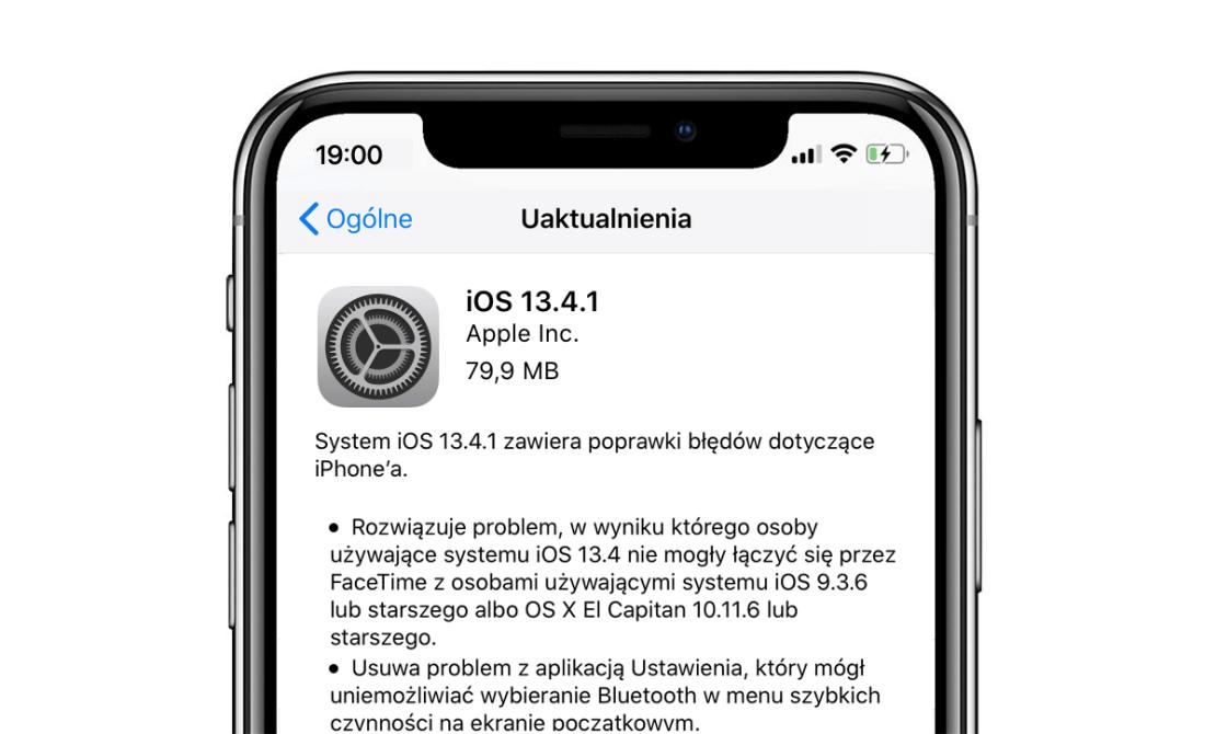 iOS 13.4.1 w trybie OTA na iPhone'a