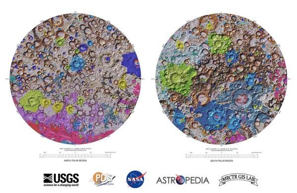 Pierwsza kompletna mapa geologiczna Księżyca