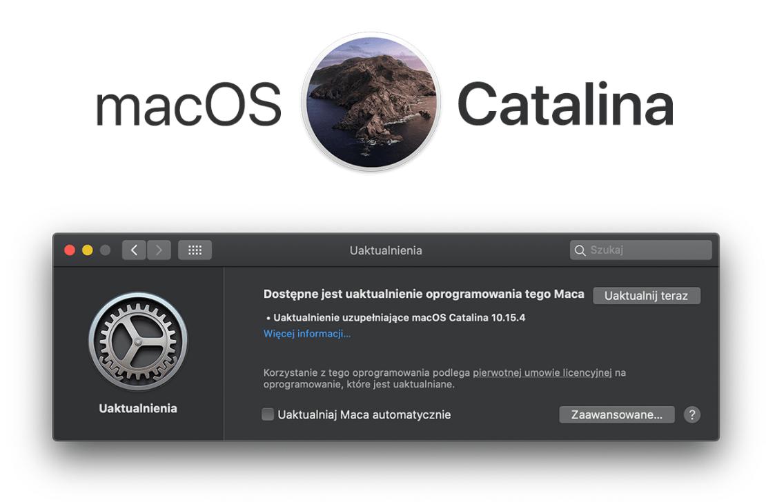 macOS Catalina 10.15.4 - uaktualnienie uzupełniające