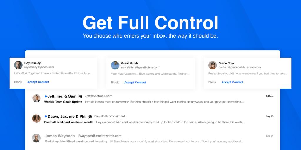Kontrolowanie wiadomości przychodzących w OnMail