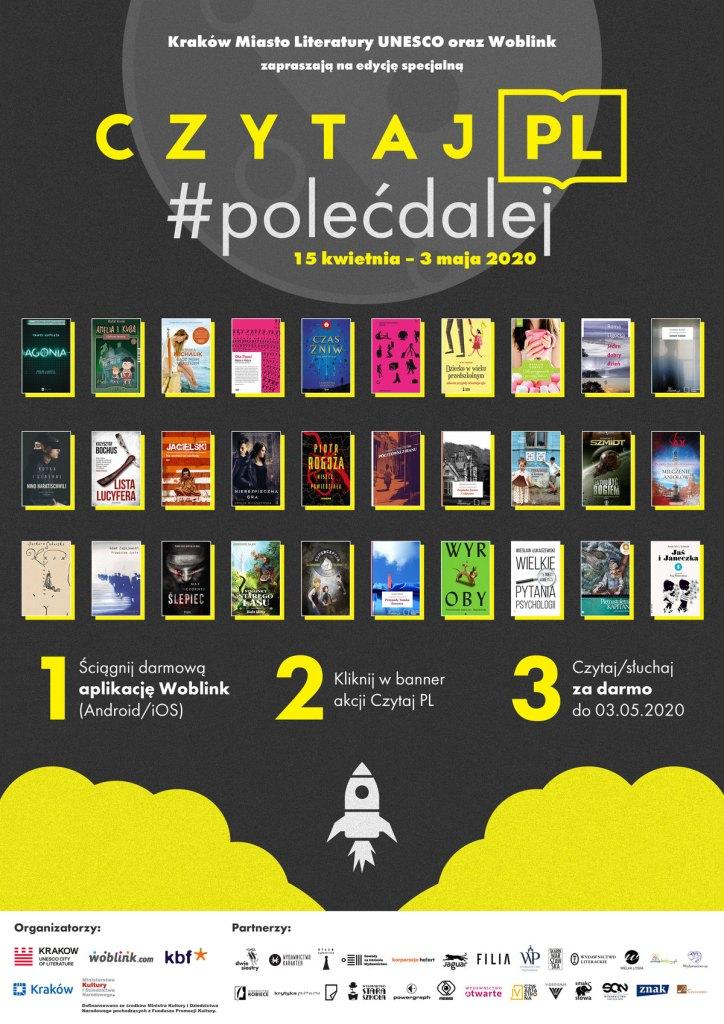 Plakat akcji Czytaj PL - edycja specjalna (kwiecień 2020)