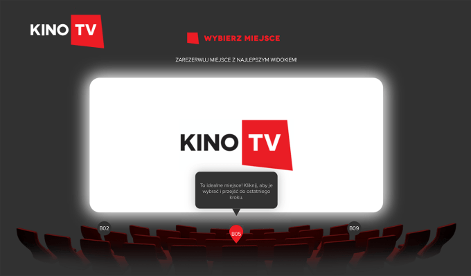 Symboliczny wybór miejsca w wirtualnym kinie #pomagamzKinoTV