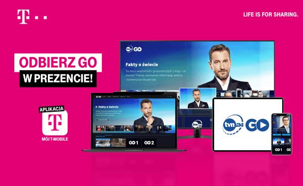 """TVN24 GO za darmo w aplikacji """"Mój T-Mobile"""""""