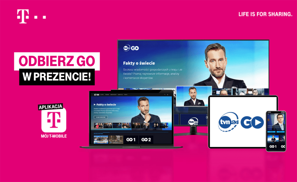 TVN24 GO w aplikacji Mój T-Mobile