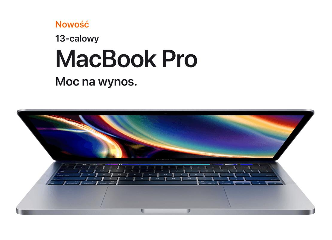 Nowość 13-calowy MacBook Pro (2020) - Moc na wynos.