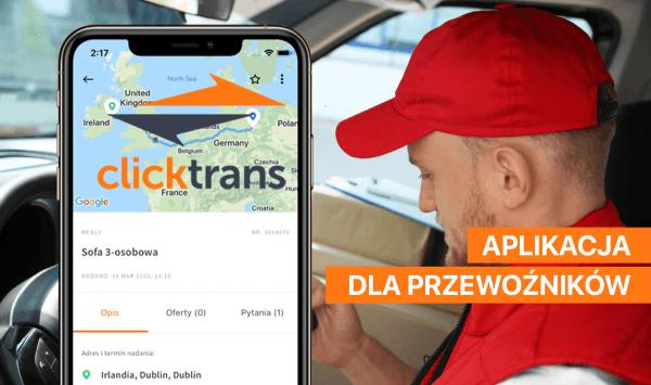 """Aplikacja """"Clicktrans"""" już dostępna dla przewoźników"""