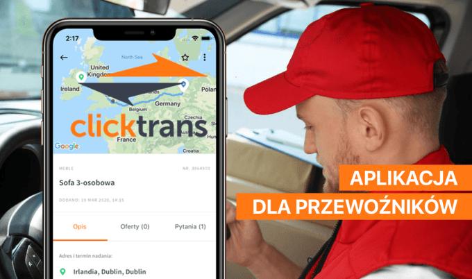 Clicktrans – aplikacja dla przewoźników