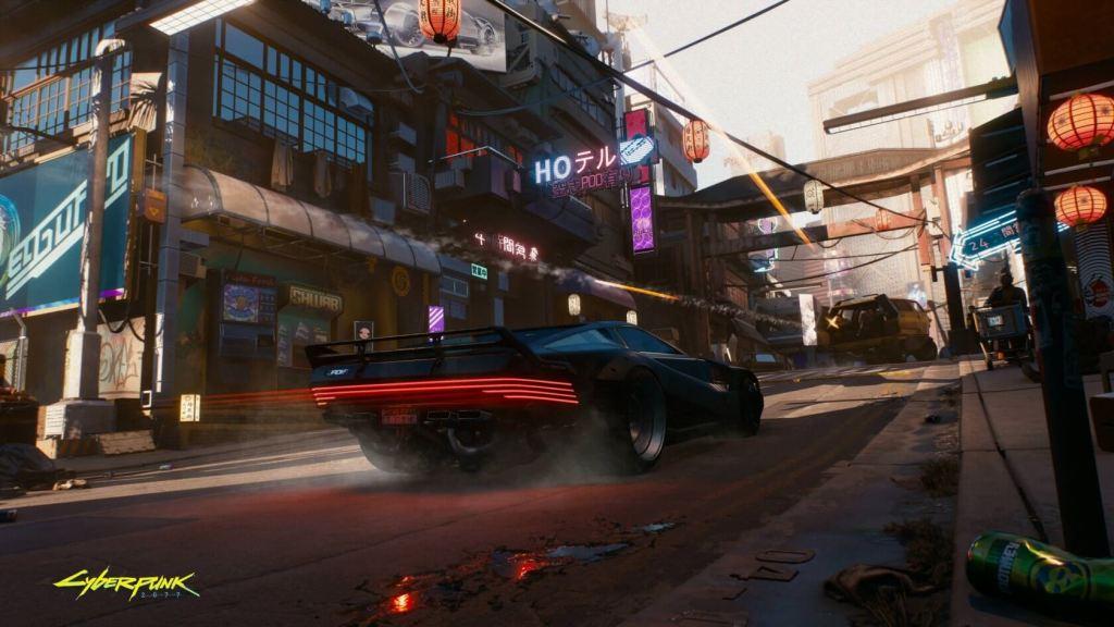 Night City w grze Cyberpunk 2077