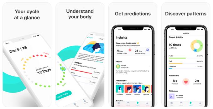 Zrzuty ekranu z aplikacji Cycles