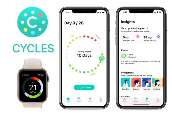 """Zrozum swoje ciało z aplikacją """"Cycles Period & Cycle Tracker"""""""