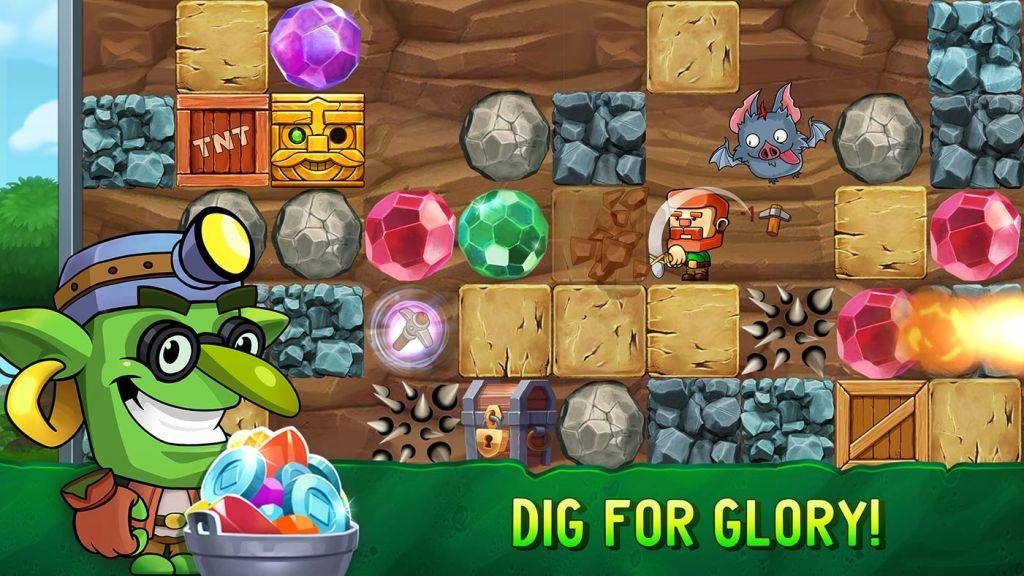 Gra mobilna: Dig Out! - Dungeon Digger