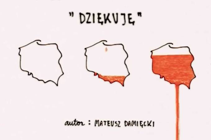 """Dziękuję"" Mateusz Damięcki (2 maja 2020 r.)"