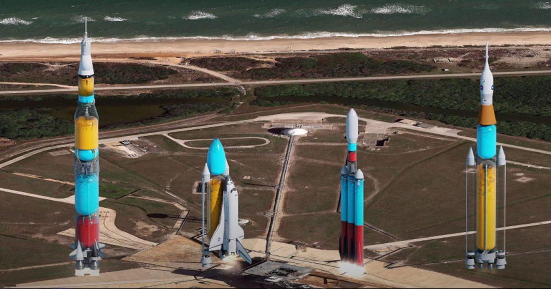 Jak wyglądałby start rakiet, gdyby były przezroczyste?