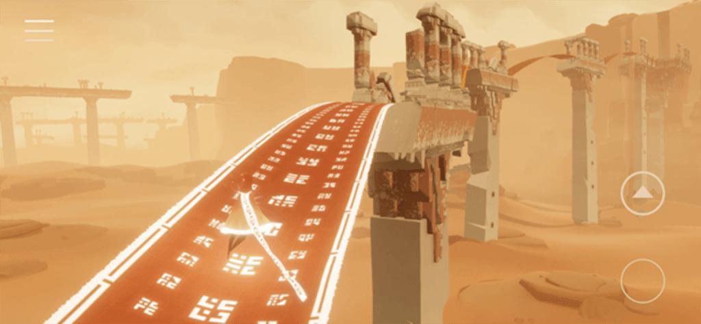 """Zrzut ekranu z gry mobilnej """"Journey"""""""