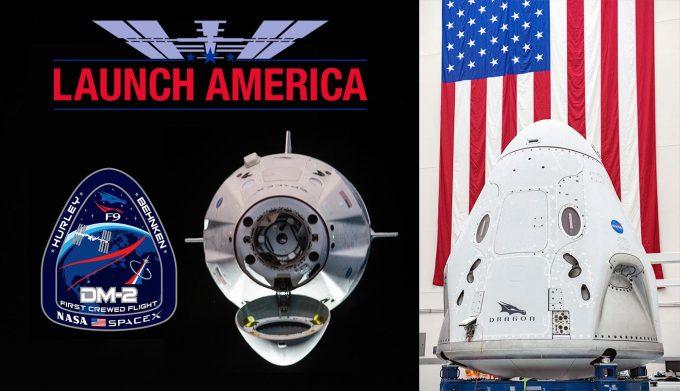 "NASA SpaceX DM-2 ""Launch America"" (27 maja 2020 r.) - transmisja online"