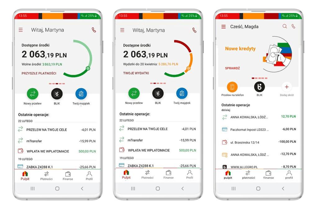 Zrzuty nowych ekranów z aplikacji mobilnej mBanku (update czerwiec 2020 r.)