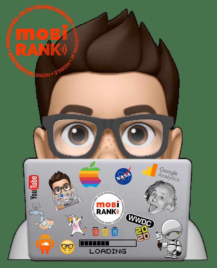 naklejka Memoji mobiRANK.pl  (sticker na MacBooka)