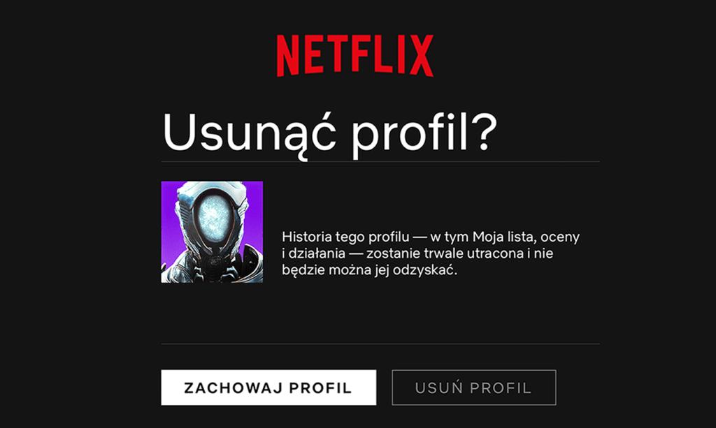 Usuwanie nieaktywnych profili w serwisie Netflix