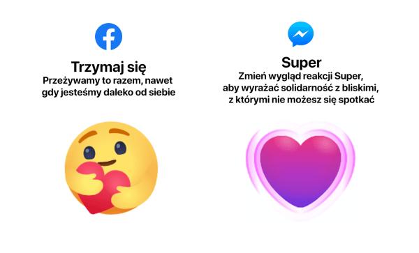 """Jak włączyć nowe reakcje """"Super"""" na Messengerze i """"Trzymaj się"""" na Facebooku?"""