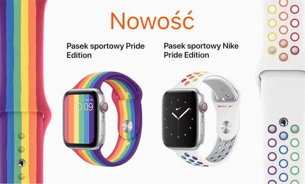 Dwa nowe paski sportowe z serii Pride Edition dla Apple Watcha