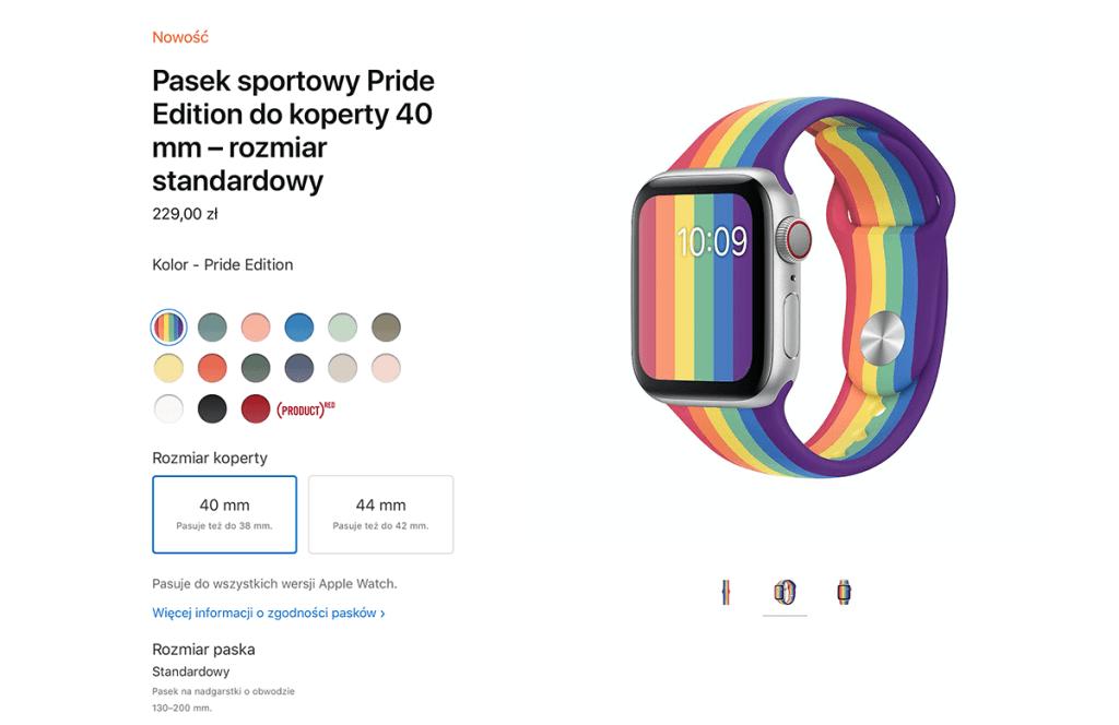 Tęczowy pasek sportowy do Apple Watcha Pride Edition 2020