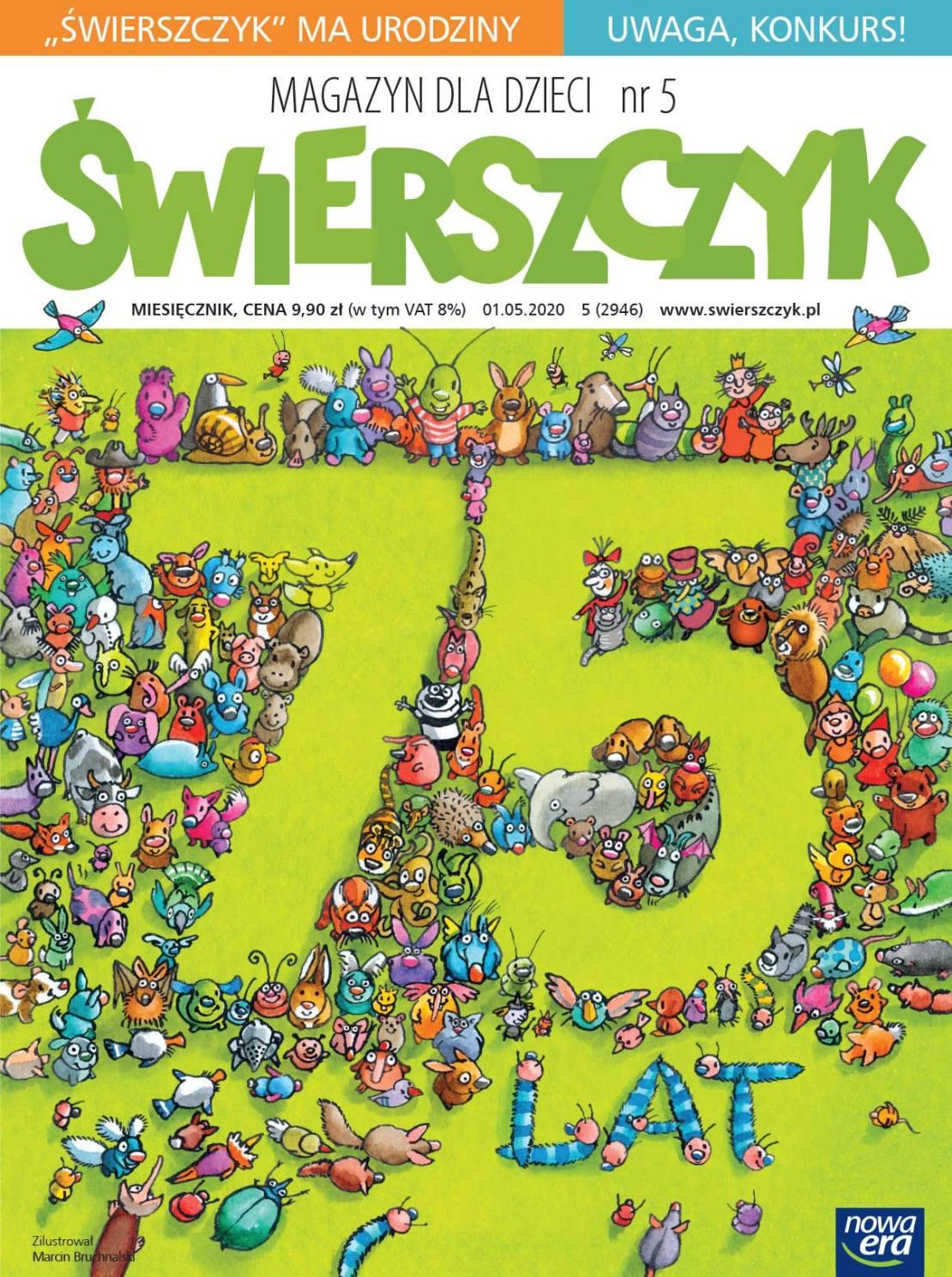 """Okładka magazynu """"Świerszczyk"""" nr 5 (2946), maj 2020 rok"""