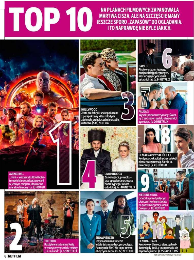 TOP 10 tytułów (Netfilm 3/2020)