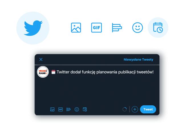 Planowanie publikacji tweeta na Twitterze