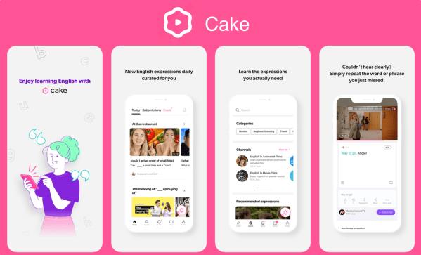 W apce Cake nauczysz się angielskiego oglądając filmiki!