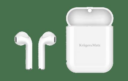 Krüger&Matz M1 (słuchawki obok etui ładującego)