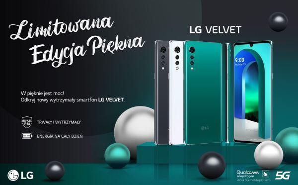 Stylowy LG VELVET dostępny w sprzedaży w Polsce