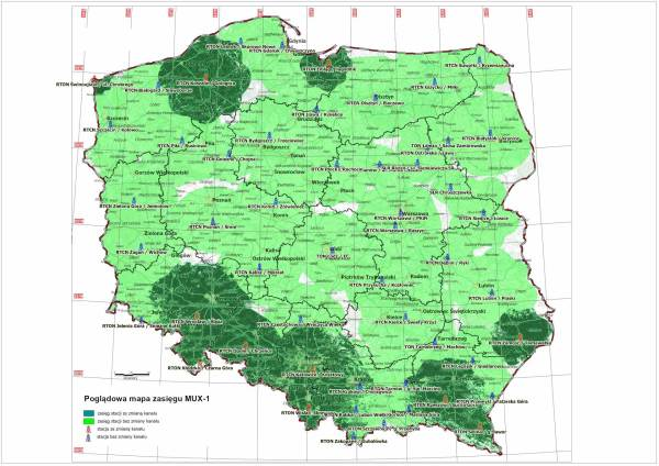 Mapa: MUX1 - refarming (etap 2)