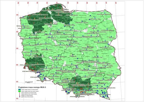 Mapa: MUX3 - refarming (etap 2)