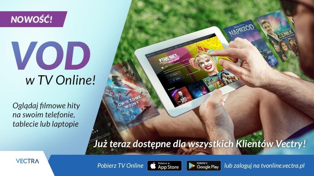 VOD w TV Online dla wszystkich klientów Vectry