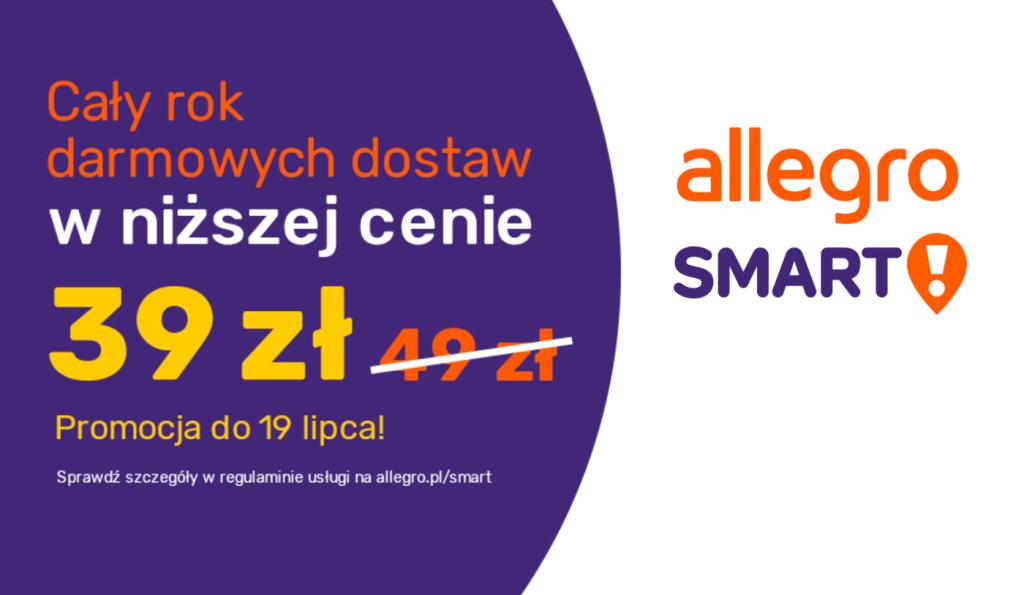 Allegro Smart! za 39 zł na 365 dni do 19 lipca 2020 r.