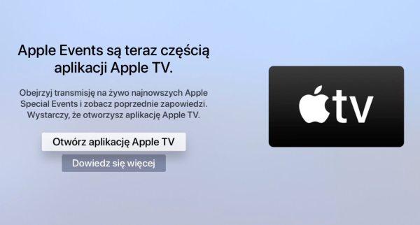 Apple Events są teraz częścią aplikacji Apple TV