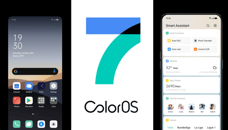 ColoroOS 7 oparty na systemie Android 10 (OPPO)