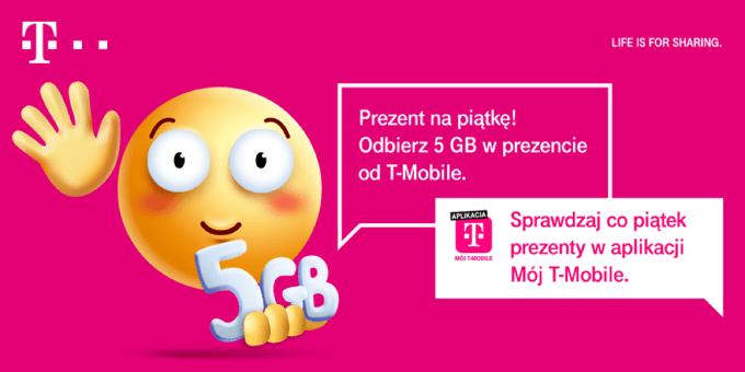 """Darmowe 5 GB w aplikacji """"Mój T-Mobile"""""""