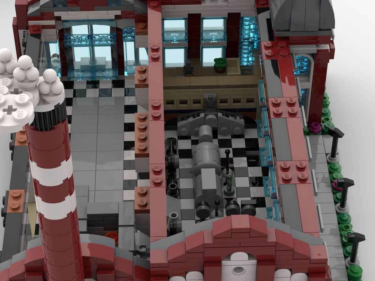 Miniaturowa Elektrowni Scheiblera z klocków LEGO®  IDEAS