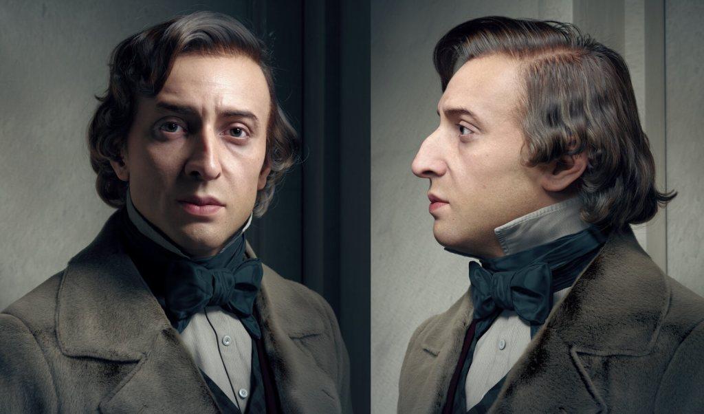 Cyfrowy portret 3D Fryderyka Chopina  – autor: Hadi Karimi, 2020 r.